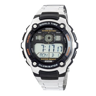Casio Mens Silvertone Sport Watch