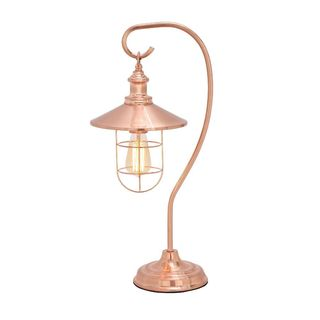 Benzara Copper Metal 11-inch x 9-inch x 23-inch Multi-directional Table Lamp
