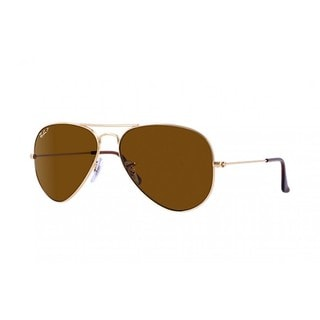 Ray-Ban RB3025 001/57 Aviator Classic Gold Frame Polarized Brown 58mmm Lens Sunglasses