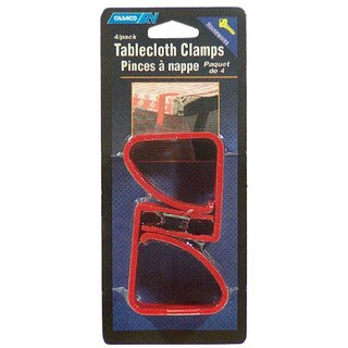 Camco 44003 4-count Red RV Tablecloth Clamps