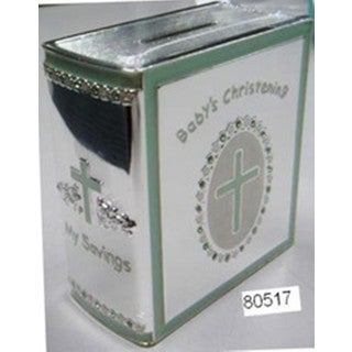 Heim Concept Christening Bank - Silver