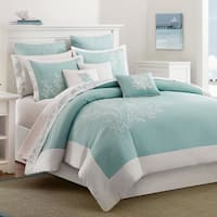 Harbor House Coastline Aqua Cotton 3-piece Duvet Cover Set
