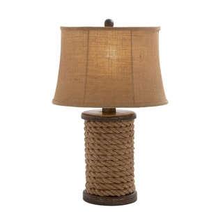 Benzara Styled Wood Rope Table Lamp