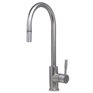 ALFI AB2028-BSS Brushed Single Hole Pull Down Kitchen Faucet