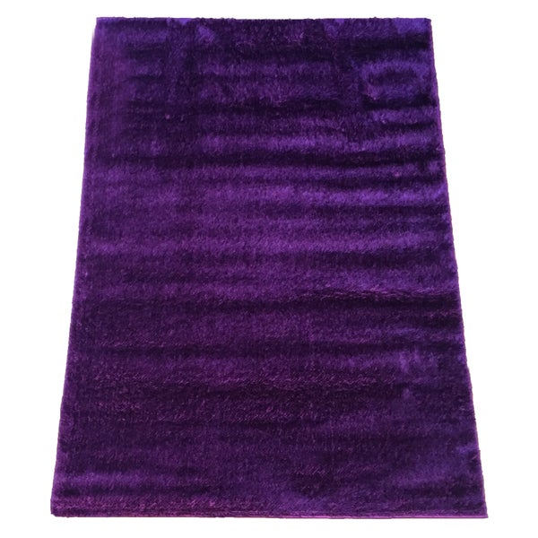 LYKE Home Rya Extra-plush Purple Area Rug - 7'10 x 10'2