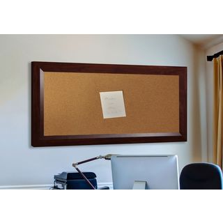 American Made Rayne Dark Walnut Corkboard