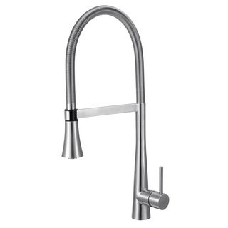 Alfi AB2027 Brushed Stainless-Steel Gooseneck Single Hole Faucet with Spray Head