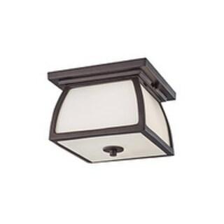 Feiss Wright House 2 Light Oil Rubbed Bronze Flushmount