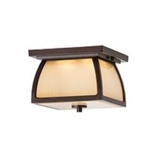 Feiss Wright House 2 Light Sorrel Brown Lantern