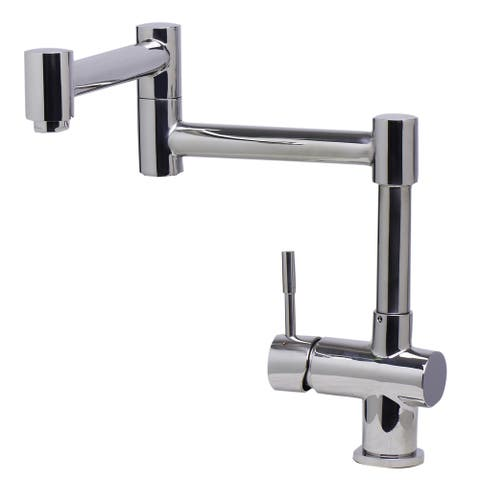 ALFI AB2038-PSS Polished Silver Stainless Steel 12-inch Retractable Single-hole Kitchen Faucet
