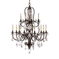 Feiss Salon Maison 12 Light Aged Tortoise Shell Chandelier