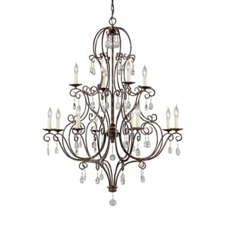 Feiss Chateau 12 Light Mocha Bronze Chandelier