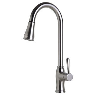 ALFI AB2043-BSS Traditional Brushed Pull Down Kitchen Faucet