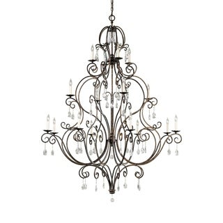 Feiss Chateau 16 Light Mocha Bronze Chandelier