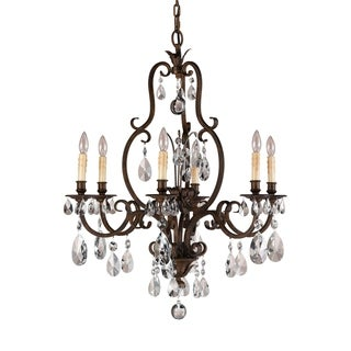 Feiss Salon Maison 6 Light Aged Tortoise Shell Chandelier