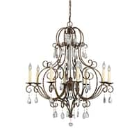 Feiss Chateau 8 Light Mocha Bronze Chandelier