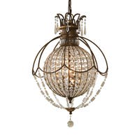 Feiss Bellini 3 Light Oxidized Bronze Chandelier - Brown
