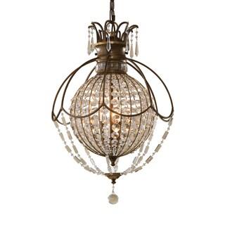 Feiss Bellini 3 Light Oxidized Bronze Chandelier - Brown
