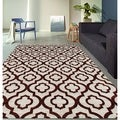 Moroccan Trellis Pattern High Quality Soft Red Area Rug (7'10 x 10'2)