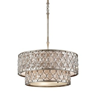 Feiss Lucia 6 Light Burnished Silver Chandelier