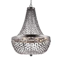 Feiss Malia 9 Light Polished Nickel Chandelier - Silver