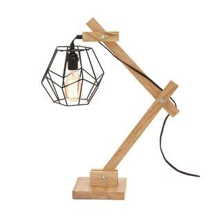 Benzara Delightful Wood Table Lamp With Bulb