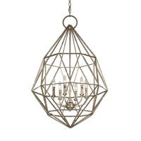 Feiss Marquise 6 Light Burnished Silver Chandelier - Burnished Silver
