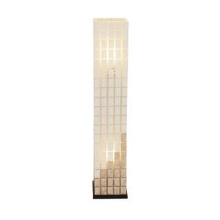Benzara The Beautiful Metal Capiz Tower Floor Lamp