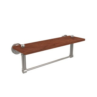 Allied Brass Dottingham Collection Brass and Ironwood Shelf with Towel Bar