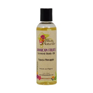Alikay Naturals Papaya and Pineapple Jamaican Fruits Scented 4-ounce Body Oil
