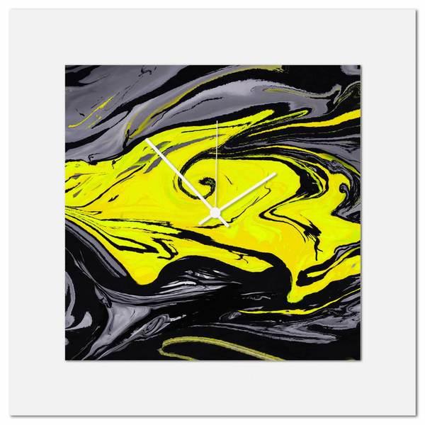 Shop Eric Waddington \'Yellow Swirl Clock\' Midcentury Modern Style ...