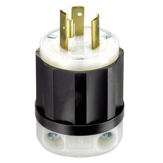 Leviton 061-2321 20 Amp 3W, 2P NEMA L6-20P Locking Plug