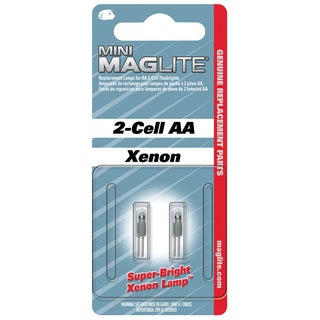 Maglite 2-Cell AA Flashlight Bulb Xenon Bi-Pin