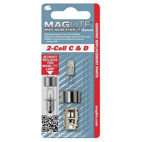 Maglite Mag-Num Star II 2-Cell C& D Flashlight Bulb Xenon Bi-Pin