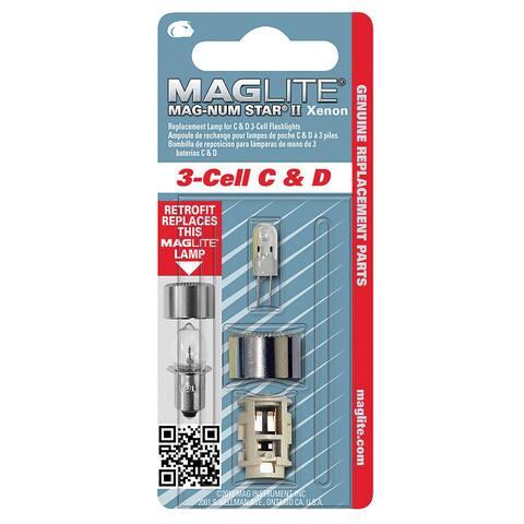 Maglite Mag-Num Star II 3-Cell C & D Flashlight Bulb Xenon Bi-Pin