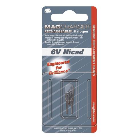 Maglite Mag Charger Flashlight Bulb 6 volts Halogen Bi-Pin