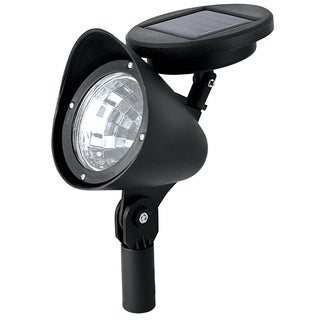 Paradise GL23836BK12 Black Plastic Solar Floodlight With Attached Solar Panel