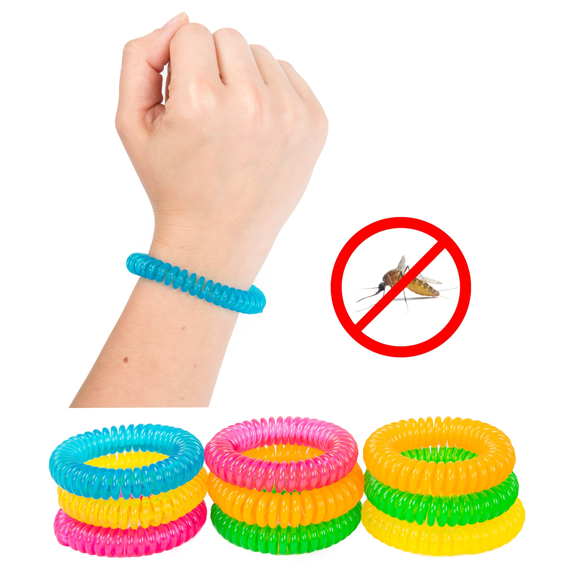 Pure Garden Mosquito Repellent Bracelets (Pack of 10) (Mo...