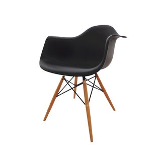 Modern EAMES Style Armchair Natural Wood Legs (Set of 2)
