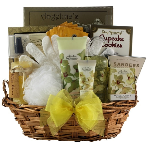 Vanilla Orchid Spa Luxuries Bath & Body Mother's Day Gift Basket