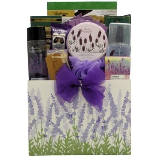 Lavender Spa Pleasures Bath and Body Mother's Day Basket
