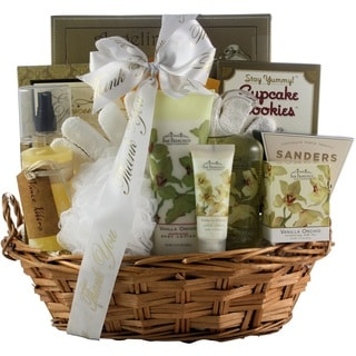 Vanilla Orchid Spa Luxuries Bath & Body Thank You Gift Basket