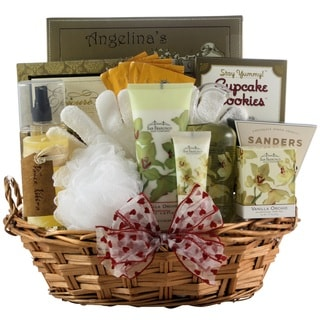Vanilla Orchid Spa Luxuries Bath and Body Valentine's Day Gift Basket