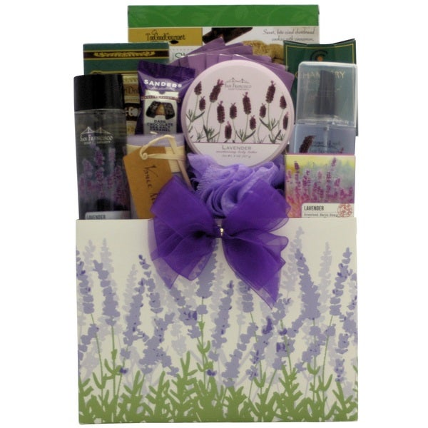 Lavender Ultimate Spa Gift Basket By Broadwaybasketeers Com: Shop Lavender Spa Pleasures Bath And Body Spa Gift Basket