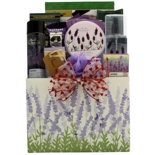 Lavender Spa Pleasures Bath & Body Valentine's Day Gift Basket