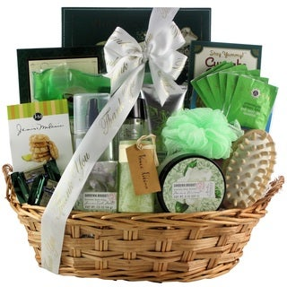 Gardenia Bouquet Spa Haven Bath & Body Thank You Gift Basket
