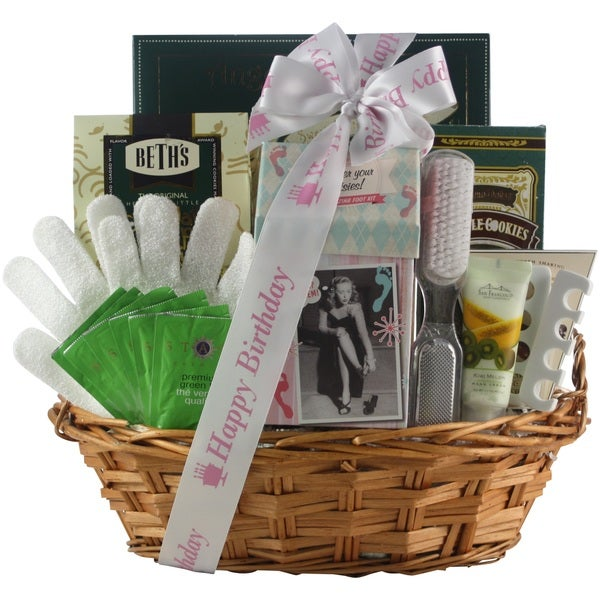 Hands & Feet Specialty Spa Bath & Body Birthday Gift Basket