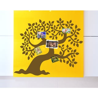 Deciduous Family Tree Wall Art Sticker Decal Brown