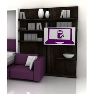 A computer Gadgets mouse Job Wall Art Sticker Decal Purple
