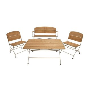 Classy Metal Wood Patio (Set of 4)